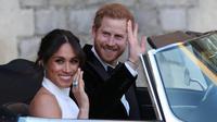 Pernikahan Meghan Markle - Pangeran Harry. (Steve Parsons / POOL / AFP)