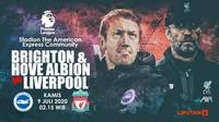 BRIGHTON & HOVE ALBION FC VS LIVERPOOL FC (Liputan6.com/Abdillah)