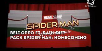 Beli Oppo F3 dapat gift pack spesial edition Spider-Man. Begini langkah-langkahnya.