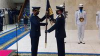Upacara serah terima jabatan (sertijab) Kepala Staf Angkatan Udara (KSAU) dari Marsekal Yuyu Sutisna kepada Marsekal Fadjar Prasetyo. (dok TNI)