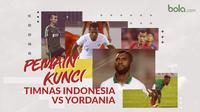 Pemain kunci Timnas Indonesia vs Yordania. (Bola.com/Dody Iryawan)