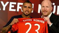 Arturo Vidal gabung Bayern Munchen (EPA/SVEN HOPPE)