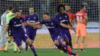 AS Roma menyerah 0-1 dari Fiorentina pada lanjutan Serie A di Artemio Franchi, Firenze, Senin (19/9/2016) dini hari WIB. Gol kemenangan Fiorentina dicetak Milan Badelj. (AFP/Andreas Solaro)