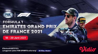 Live Streaming Formula 1 Prancis 2021 di FOX Sports Eksklusif Melalui Vidio, 18-20 Juni