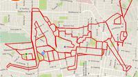 Ini hasil karya seorang seniman yang hobi bersepeda.