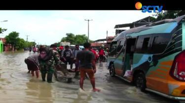 Pihak pemerintah Desa Wanakaya, Cirebon, juga melakukan penutupan jalur untuk menghindari adanya gelombang dari kendaraan yang menerjang pemukiman warga.