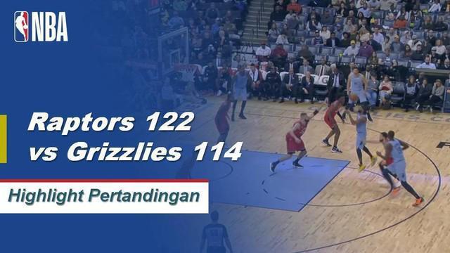 Kyle Lowry mencetak 24 poin dan Kawhi Leonard menambah 17 dengan 10 rebound ketika Toronto Raptors memenangi pertandingan keenam beruntun mereka dengan mengalahkan Memphis Grizzlies, 122-114.