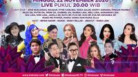 Semarak Indosiar Jakarta, digelar Minggu (22/11/2020) pukul 20.00 WIB live dari Studio EMTEK City, Jakarta Barat