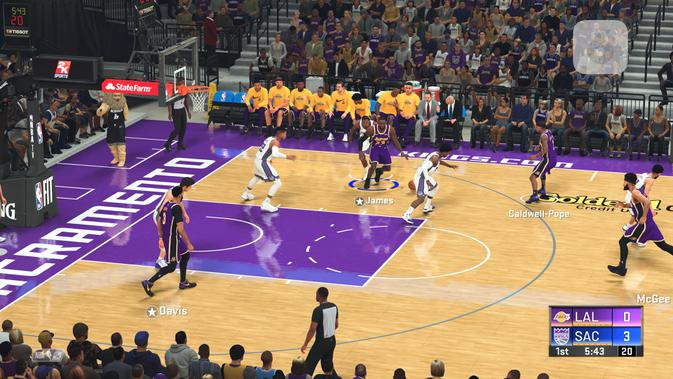 Gameplay di NBA 2K20 bisa sedikit membingungkan bagi pemain baru. (Liputan6.com/ Yuslianson)