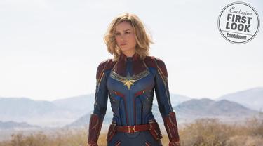 Foto eksklusif film Captain Marvel. (sumber: Entertainment Weekly / Marvel Studios)
