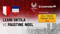Leani Ratri Oktila vs Faustine Noel (Prancis)