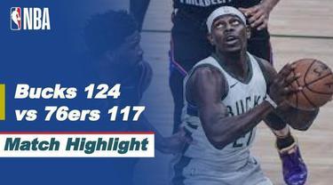 Berita video highlight NBA, Philadelphia 76ers Telan Pil Pahit Dikandang Milwaukee Bucks 124-117, Jumat (23/4/2021).