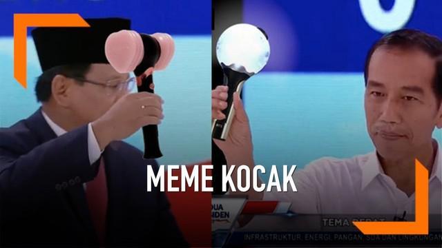 Debat Capres 2019 kedua antara Joko Widodo dan Prabowo telah usai. Beredar sejumlah meme kocak di media sosial yang undang gelak tawa. Apa Saja?