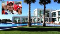 Pemenang MotoGP 2015, Jorge Lorenzo memiliki rumah yang mewah dengan fasilitas yang mendukung gaya hidup hedon sang jawara.