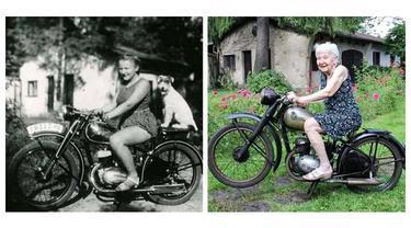 6 Potret Reka Ulang Foto Jadul Setelah Puluhan Tahun Berlalu Ini Bikin Rindu