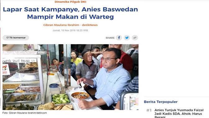 Gambar Tangkapan Layar Artikel dari Situs detik.com