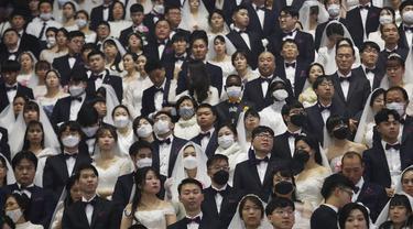 Virus Corona Mewabah, Ribuan Warga Korsel Tetap Langsungkan Nikah Massal