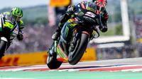 Pembalap Yamaha Tech 3, Johann Zarco resmi meneken kontrak dengan KTM hingga MotoGP 2020. (Twitter/Yamaha Tech 3)