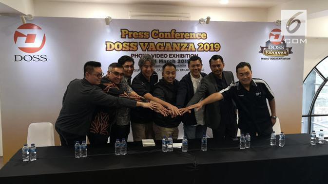 Jumpa pers Doss Vaganza 2019 di Jakarta, Senin (18/3/2019). (Liputan6.com/ Yuslianson)