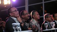 Exco PSSI, Tony Aprilani (kiri) hadir dalam peresmian gelaran ISL 2015 di Lounge VVIP Barat Stadion GBK Jakarta, Sabtu (14/2/2015). (Liputan6.com/Helmi Fithriansyah)