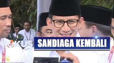 Sandiaga Uno memilih kembali bergabung dengan Partai Gerindra karena memiliki kesamaan visi.