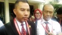 Suwito, kuasa hukum OB, tersangka penganiayaan siswa SMA Taruna Indonesia Palembang (Liputan6.com / Nefri Inge)