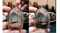 Lukisan dalam botol (sumber: youtube)
