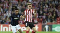 Manchester City kabarnya menyiapkan dana 60 juta poundsterling atau setara Rp 1,1 triliun untuk merekrut bek Sevilla, Aymeric Laporte. (AFP/Ander Gillenea)