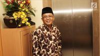 Presiden PKS Sohibul Iman saat menerima kedatangan Ketua Umum Partai Gerindra Prabowo Subianto di Kantor DPP PKS, Jakarta, Senin (30/7). Kedatangan Prabowo untuk membahas hasil pertemuannya dengan Partai Demokrat. (Liputan6.com/Herman Zakharia)
