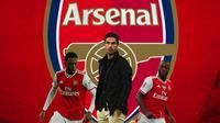 Arsenal - Joe Willock, Mikel Arteta, Nicolas Pepe (Bola.com/Adreanus Titus)