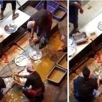 jijik, restoran ini cuci piring pakai air kubangan (elitereaders)