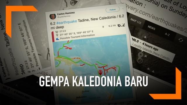 Gempa dahsyat mengguncang Kaledonia Baru. Gempa magnitudo 6,8 tidak menyebabkan potensi tsunami.