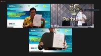 Penandatanganan Nota Kesepahaman (MoU) Kerja Sama Penyediaan Biomassa untuk PLTU Batubara antara Perum Perhutani, PT PN III (Persero) dan PT PLN (Persero).