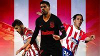 Atletico Madrid - David Villa, Luis Suarez, Luis Garcia (Bola.com/Adreanus Titus)