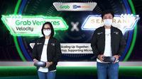 [Ki-Ka] Country Managing Director, Grab Indonesia, Neneng Goenadi dan CEO BRI Ventures, Nicko Widjaja dalam peluncuran program Grab Ventures Velocity Batch 4 X Sembrani Wira. (Ist.)