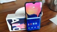 Samsung Galaxy A10 resmi diungkap. (Liputan6.com/ Yuslianson)