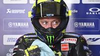 Pembalap Monster Energy Yamaha, Valentino Rossi. (AFP/Tobias Schwarz)