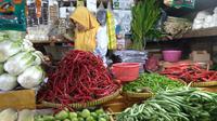 Pedagang sayuran di Pasar Grogol. Dok: Tommy Kurnia/Liputan6.com