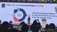 The Head of Greater China and Head of Asia, GSMA, Sinan Chen Bo dalam acara Huawei Asia-Pacific Innovation Day ke-5 di Chengdu, Tiongkok, Selasa (3/9/2019). Liputan6.com/Devira Prastiwi