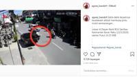 Jangan Buka Pintu Mobil Sebarangan di Pinggir Jalan (Instagram)