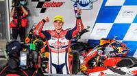 Pembalap Federal Oil Gresini Moto2 (FOGM2) Fabio Di Giannantonio (Diggia) berhasil naik podium ketiga di seri pembuka Moto2 2021 yang berlangsung di Sirkuit Losail, Qatar. (ist)