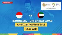 Jadwal 16 Besar sepak bola putra Asian Games 2018, Indonesia vs Uni Emirat Arab. (Bola.com/Dody Iryawan)