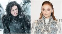 Kit Harington-Sophie Turner. (HBO Dimitrios Kambouris / GETTY IMAGES NORTH AMERICA / AFP)