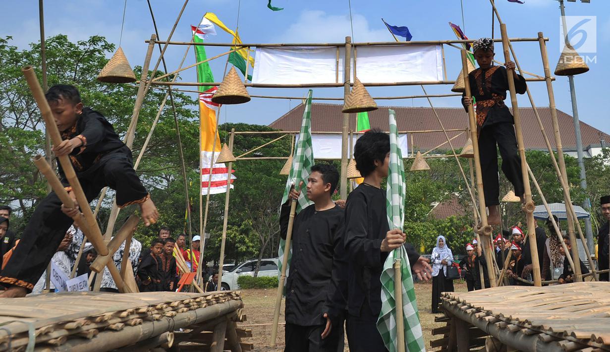 Foto Serunya Lomba Permainan Tradisional Warnai Hut Kabupaten Bekasi Dan Hut Ri Regional Liputan6 Com