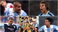 Lazio pernah mengukir sejarah sebagai peraih scudetto pada musim 1999-2000. Saat itu, pasukan Biancocelesti ini disebut-sebut sebagai Dream Team. Berikut 7 bintang Lazio saat mendapat julukan Dream Team. (Kolase foto AFP)