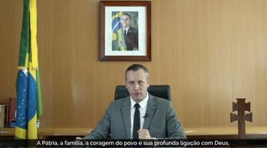 Roberto Alvim, menteri kebudayaan Brasil yang dipecat karena mengutip isi pidato dari politisi Nazi.