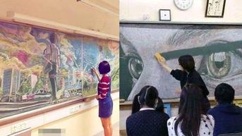7 Hasil Gambar Anak Sekolah di Papan Tulis ini Bikin Sayang Untuk Dihapus