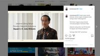 Ucapan ulang tahun dari Menteri Keuangan Sri Mulyani untuk Presiden Joko Widodo atau Jokowi. (Instagram @smindrawati)