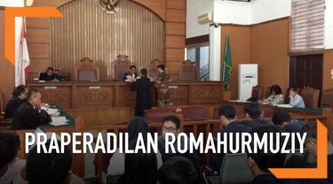 Pengadilan Negeri Jakarta Selatan menggelar sidang gugatan prapradilan kasus dugaan suap pengisian jabatan di Kemenag dengan tersangka Romahurmuziy alias Rommy, Senin (6/4/2019).