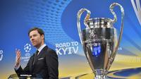 Mantan pemain Bayern Munchen, Xabi Alonso, mengaku belum sepenuhnya siap untuk menerima tawaran sebagai pelatih Real Sociedad. (AFP/Fabrice Coffrini)